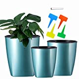 Plant Pots - 5/4.3/3.5 Inch Planters Succulent Pots for Indoor - Self Watering Pots for Flowers, Plants, Cactus, Modern Home Decor