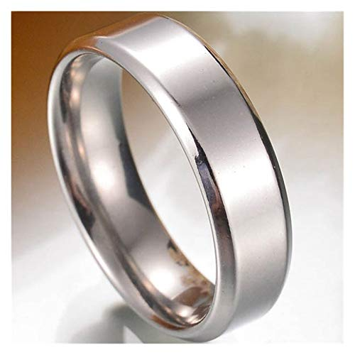 XYBH Anillo de acero de titanio punk, 8 mm, para hombre, con números romanos y números romanos para hombre, anillo de motocicleta, anillo de boda (piedra principal: 6 mm, tamaño del anillo: 11)