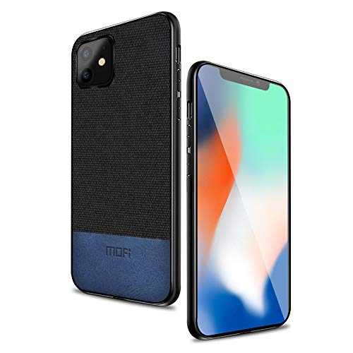 "MOFI iPhone 11 Case Thin Slim Hard Case with Smooth Surface only for Apple iPhone 11(6.1"") Black Blue"