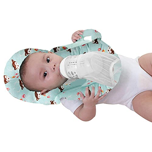 almohada plagiocefalia,cojin mimos,almohadas para reflujo,cojin infantil,suave,Almohada de lactancia autoalimentada para bebés Almohada de alimentación desmontable portátil