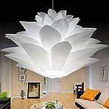 kengbi Simple Elegante la Delicada Sombra de la lámpara f DIY lámpara de Lotus Pantalla Hermosa Cubierta decoración romántica iluminación (Body Color : 35cm)