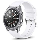 Vobafe QuickFit 22mm Cinturino Compatibile con Garmin Vivoactive 4/Samsung Galaxy Watch 46mm/Watch 3 45mm, Sportivo Cinturino in Silicone per Garmin Fenix 6/6 PRO/Fenix 5/5 Plus, Grande Bianca