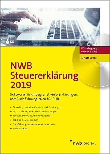 NWB Steuererklärung 2019 - 1-Platz-Version: Profi-Steuererklärungssoftware. Für unbegrenzt viele Mandate. 7 Jahre ELSTER Schnittstellen-Support. Für den VZ 2019. 1-Platz-Lizenz. CD-Version