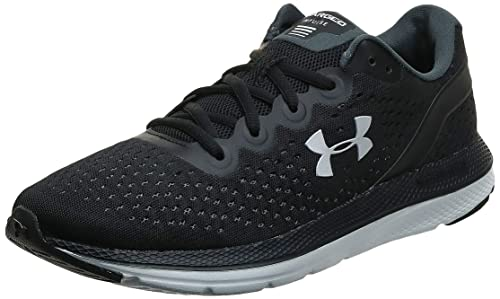 Under Armour Women's Charged Impulse Running Shoe,Black (002)/White, 10
