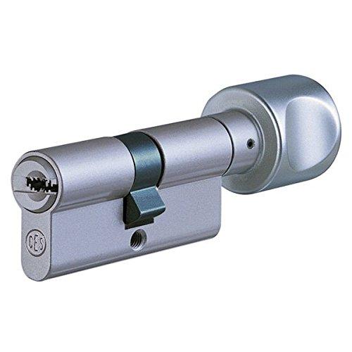 CES WSM Wendeschlüssel-Knaufzylinder 50/45K inkl. 5 Schlüssel - Sicherheitszylinder - inkl. Sicherungskarte - verschiedenschließend (K=Knaufseite)