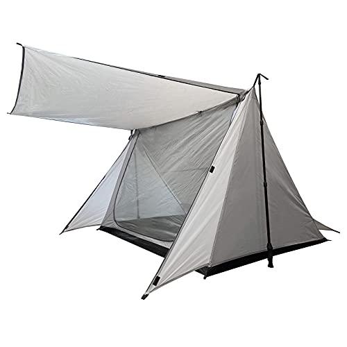 [Amazonブランド] Eono(イオーノ)テント 1〜2人用 パップテント シェルター ソロキャンプ 登山 メッシュドア 防虫通気 コンパクト ゆったり前室 防水防風 収納バッグ付き