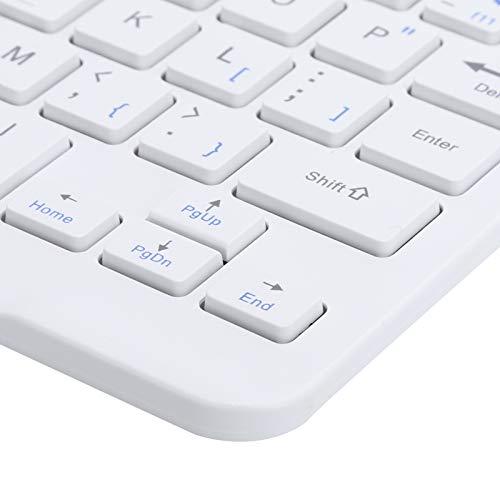 BOLORAMO Teclado de 78 Teclas, Teclado Bluetooth Alta compatibilidad Volumen más pequeño para tabletas