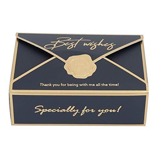 Toasses 50 unids sobre único Forma de Papel Caja de Caramelo Soporte de Caramelo Accesorios de Fiesta de Boda Decoración (Azul)