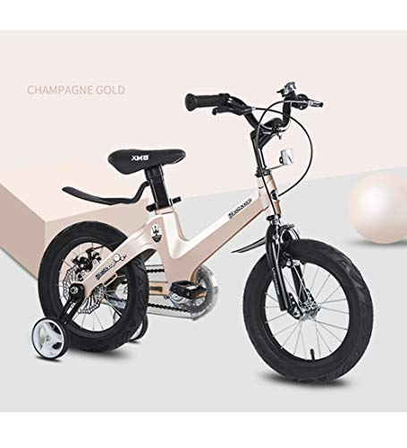"""SXMXO Fahrrad mit Trainingsrädern 18\""""höhenverstellbar Kinderfahrrad, Jungen- und Mädchenfahrrad für Kinder 7-12 Jahre Leichte Magnesiumlegierung mit Doppelscheibenbremse,Brown"""