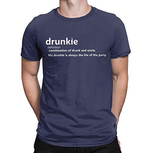 Drunkle Borracho tío Definición Camiseta Divertida de los Hombres Que Bebe Regalo disfuncional TES de Las Tapas, 5X-Large, la Marina de Guerra