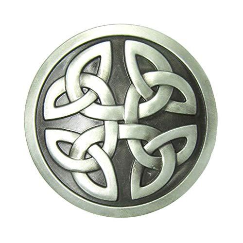 Round Celtic Knot Kilt Belt Buckle Western Keltic Buckles for Men Women