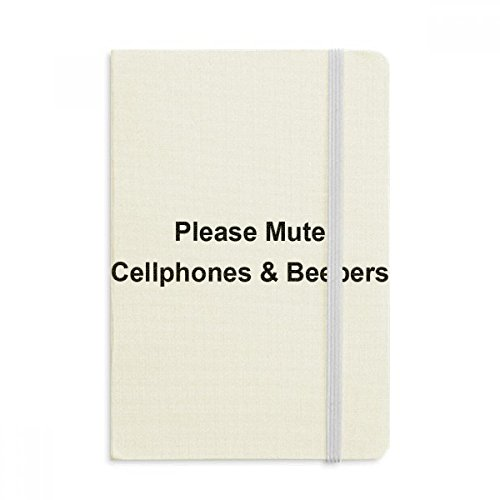 DIYthinker Mute Cellphones & Beepers Symbol Notebook Stof Hard Cover Klassiek Dagboek A5 A5 (144 X 210mm) Multi kleuren