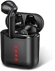 【Bluetooth5.1 瞬間接続】Bluetooth イヤホン Hi-Fi 蓋を開けて瞬間ペアリング 完全 ワイヤレス イヤホン 自動ペアリング 左右分離型 超小型 ブルートゥース イヤホン マイク付き CVC8.0ノイズキャンセリング AAC対応 IPX7防水 Siri対応 音量調整 技適認証済 iPhone/iPad/Android対応 (ブラック)