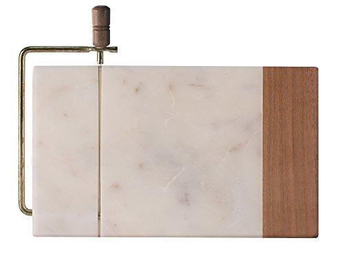 Creative Tops Planche à découper en bois d'acacia et marbre 27,5 x 21,5 x 1,5 cm