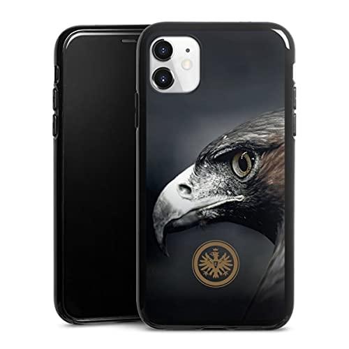 DeinDesign Silikon Hülle kompatibel mit Apple iPhone 11 Hülle schwarz Handyhülle Eintracht Frankfurt Offizielles Lizenzprodukt Adler