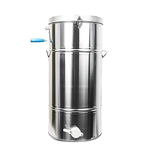 NICE CHOOSE Honey Extractor, 2 Frame Honey Separator Stainless Steel Manual Beekeeping Equipment Kit...