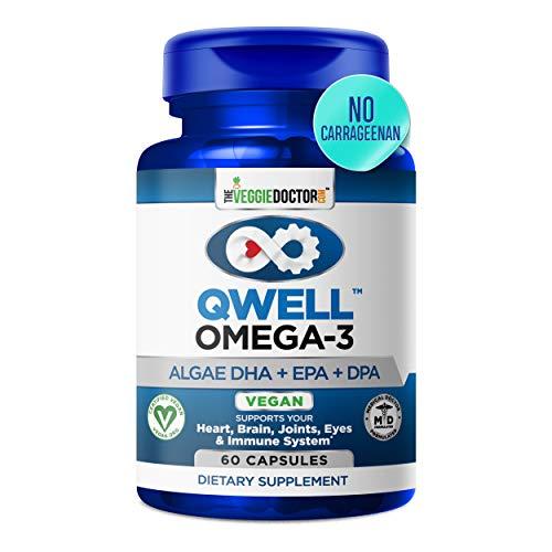 Omega 3 Better Than Fish Oil Supplements - Vegan Omega 3 - Omega 3 Fatty Acids Vegan DHA, DPA, EPA - Plant Based Algae Omega 3 - Heart, Brain, Joint, Prenatal, Immune System Support, No Carrageenan
