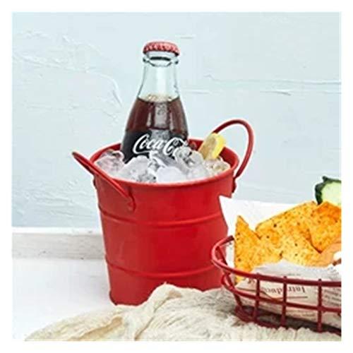 Cubo de hielo, Mini Bucket de hielo negro Cubo de hielo Negro Frisas Frasco Mini Bucket de hielo negro Fries Fries Barra de Cubo Baraño Vino Dump Tasting ACC Cubo de la enfriadora de vino