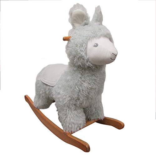 Large Rocking Horse - Plush Llama Rocker for Kids