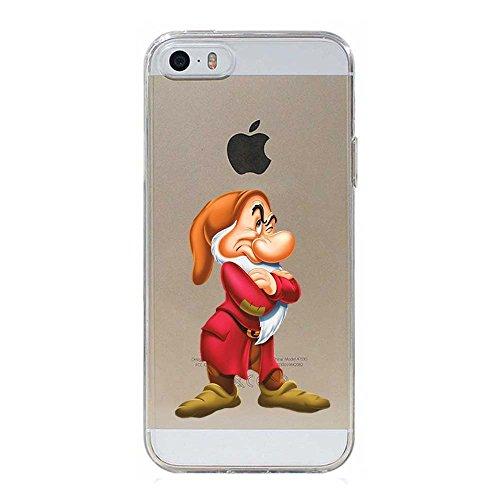 5 5S SE Cover TPU Gel Trasparente Morbida Custodia Protettiva, Cartoon, Special Collection, Brontolo, iPhone 5 5S SE