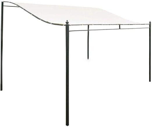 2.6x2.5m Techo Pérgola Lona 300D Reemplazo impermeable Cubierta superior del pabellón Pabellón Sombra del sol Cubierta del techo Jardín exterior ...