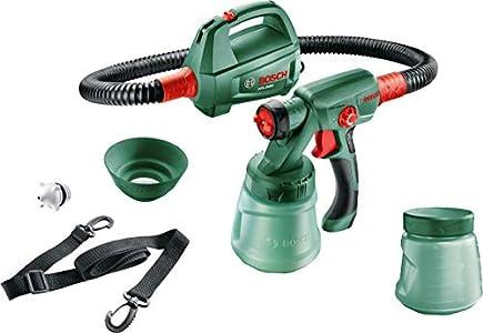 Bosch - Sistema de pulverización de pintura PFS 2000 (440W, 2 boquillas, cinturón de transporte, depósito 800 ml con tapa)