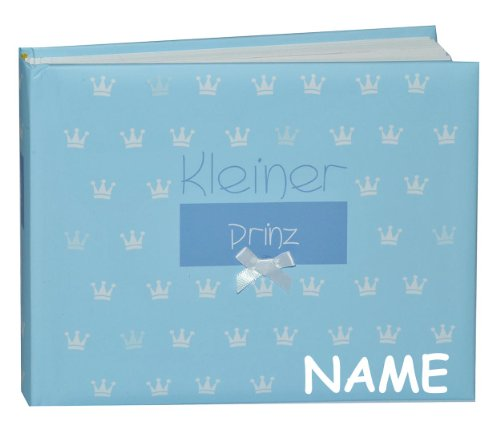 alles-meine.de GmbH Fotoalbum Baby erste Fotos - Kleiner Prinz - incl. Name - Gebunden zum Einkleben blanko - klein für bis zu 36 Bilder - Fotobuch / Photoalbum / Babyalbum / ALB..