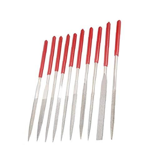 Archivo aguja archivos de conjunto de herramientas de precisión para herramientas de uso joyería del metal de madera Modelo DIY 10PCS Mano