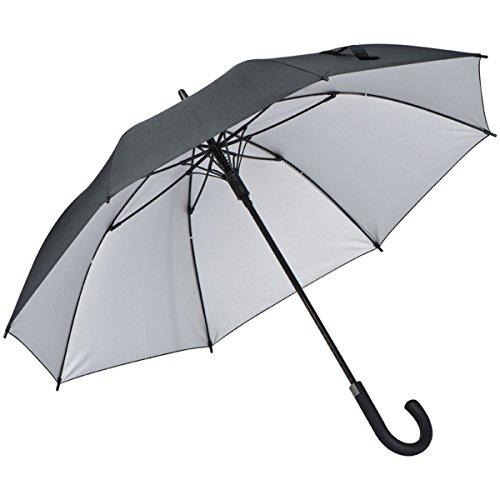 Ferraghini Automatik-Regenschirm aus hochwertigem Pongee Stoff, mit Aluminiumschaft und Fiberglas-Gestänge + GM-IT Kugelschreiber