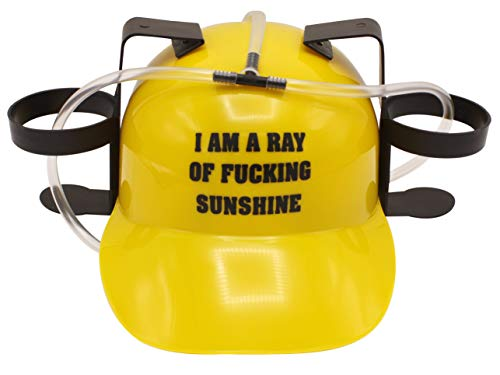 Island Dogs 98482 Ray of Sunshine Drinking Hat, Adjustable, Yellow