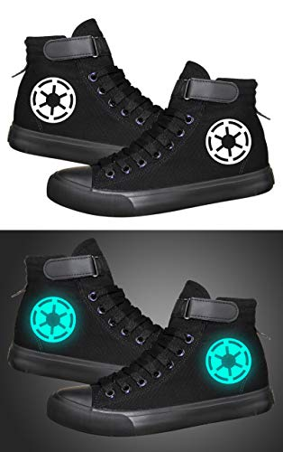 Darth Vader White Soldat Sith Empire Galactic Empire Cosplay Kostüm Schuhe Canvas Schuhe, (Leuchtkraft 5), 40 EU