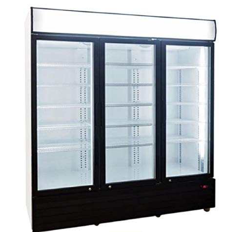 Commercial Refrigerator Glass 3-door NSF Beverage Cooler, 1840-Can Capacity 56 cuft, 72'-GDM-69B dup-1