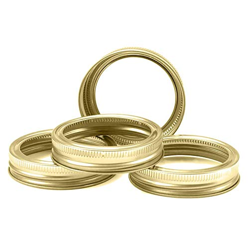 Mason Jar Lids Rings Regular Wide Mouth Canning Lids and Bands (86 mm Wide Mouth, Bands 12 Pcs)