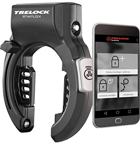 Trelock Unisex– Erwachsene Rahmenschloss-2232414000 Rahmenschloss, Schwarz, One Size