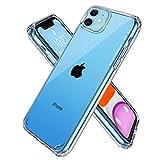 iPhone 11 ケース クリア 透明 TPU PC 二重構造 薄型 耐久 アイフォン11 保護カバー 耐衝撃 ワイヤレス充電対応 気泡防止 擦り傷防止 黄変防止