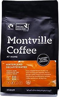 MONTVILLE COFFEE Hinterland Blend Plunger Ground Decaf Coffee 250 g, 250 g