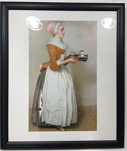 Art-Galerie Jean-Etienne Liotard, Gerahmtes Bild Holz schwarz, Plexiglas normal, Schokoladenmädchen