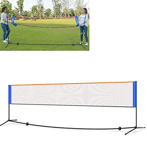 HHORD 5.1M Tragbare Badminton Net Set - Wettbewerb Multi Sport Innen-Oder Außen Net Für Das Spiel Pickleball, Kinder Volleyball, Fußball Tennis, Lawn Tennis