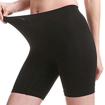 MELERIO Women s Slip Shorts Comfortable Spandex Biker Shorts Anti-chafing Boxer Underwear Briefs Boyshorts for Under Dress  Black 2XL