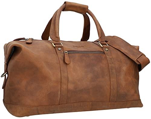 Gusti Reisetasche Leder - Ruben Reisegepäck Handgepäck 36 L Travel Bag Damen Herren Unisex Braun