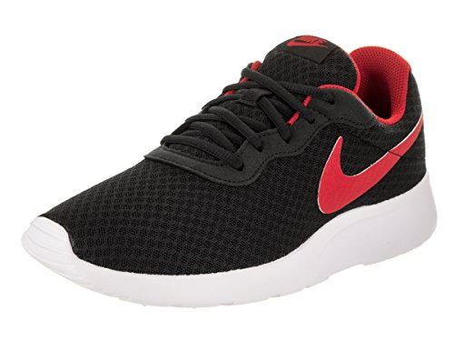 Nike Men's Tanjun Black / University Red-white Running Shoe 10 Men US