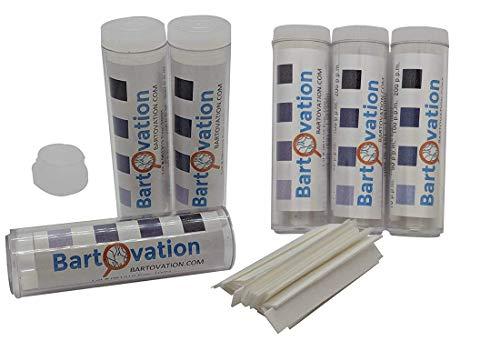 Six Pack Restaurant Sanitizer Chlorine Test Paper, 10-200 ppm [6 Vials of...