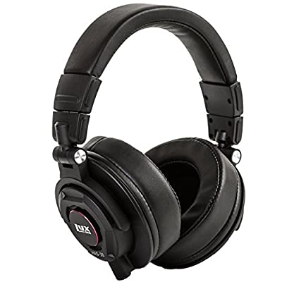 LyxPro HAS-30 Professional Over-Ear Studio Monitor Headphones with Detachable Cable, for Recording, Mixing, DJ & Music Listening by LyxPro