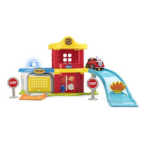 Chicco Police-Fire Station Set Elettronico con Macchine