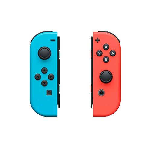 Nintendo Switch: Set da Due Joy-Con + Snipperclips Download Card, Blu/Rosso Neon [Bundle]