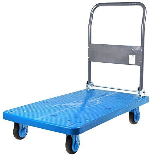 DEE Multifunktions-Einkaufswagen-Industriewagen, Plattformwagen, Gummi-Dämpfungsrad, Das 350 Kg Gewicht Aufnehmen Kann
