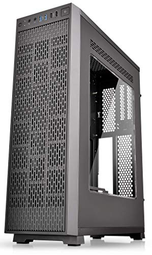Thermaltake Core G3 Black Slim Small Form Factor ATX Perforated Metal Front and Top Panel Gaming Computer Case 2.0 Edition with Two 120mm Front Fan Pre-Installed CA-1G6-00S1WN-A0
