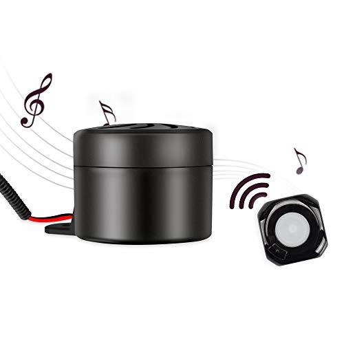 AUMUME Car Horn Autohupe für Motorrad Auto Fahrzeug LKW Moped, 12V Universal Horn Hupe ist Wireless Fähig und Hat 13 Verschiedene Alarmtöne( Wasserdicht )