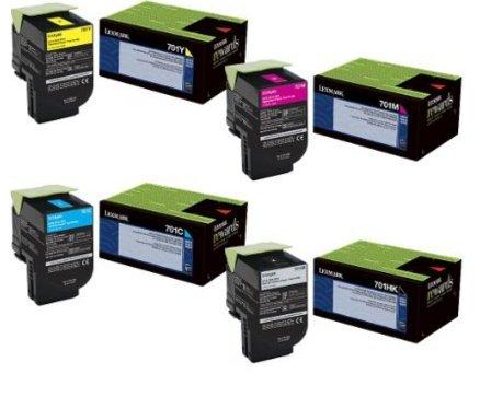 Lexmark High Yield Black, Standard Yield Colors, Lexmark CS310 CS310n Lexmark CS410dn/Lexmark CS410n/Lexmark CS510de