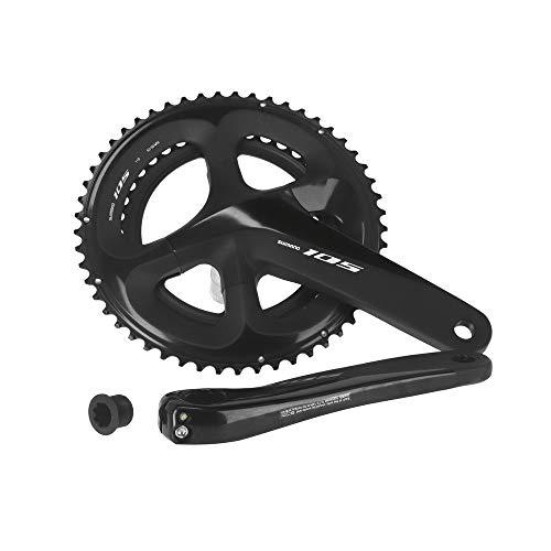 SHIMANO Bielas 105 R7000 11v Ciclismo Unisex Adulto, Negro(Negro), 172,5mm 52/36